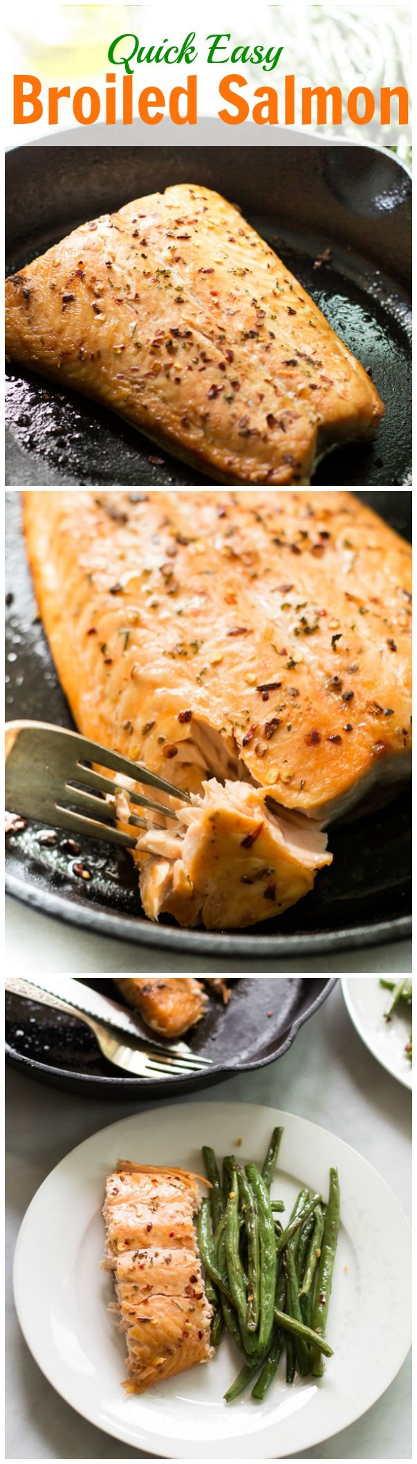 Quick Easy Broiled Salmon