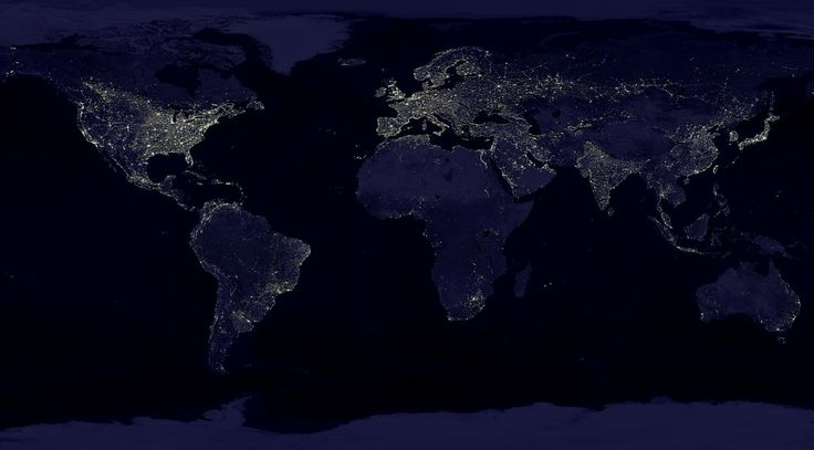 What Energy Sources Power the World? -  There are many types of maps out there but one of the most telling ones is a simple satellite image of the Earth at night.  On these powerful images the darkness is a blank canvas for the bright city lights that represent the vast extent of human geography. The bright spots help us understand the distribution of population as well as what areas of the world are generally wealthier and more urban. Meanwhile the big dark spots  such as over the…