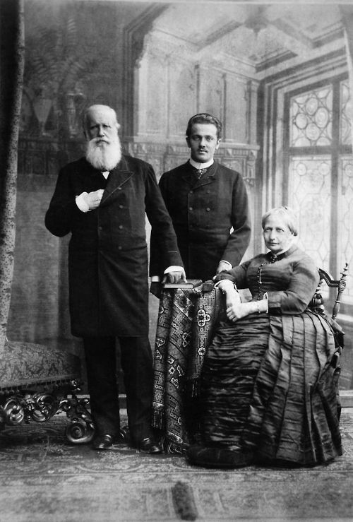 Emperor Pedro II and Empress Teresa Christina of Brazil with their grandson Prince Pedro