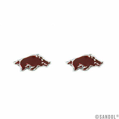 Arkansas Razorbacks Logo Stud Earrings Sports Team Access