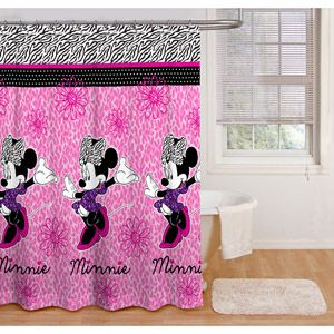Minnie Mouse Glamour Shower Curtain Bathroom Pinterest