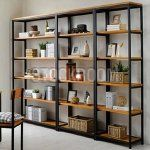 Memphis Industrial Solid Wood Bookshelf