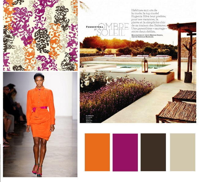 tangerine, magenta, chocolate + slate: Colors Combos, Kitchens Colors, Beautiful Colors, Colors 2012, Pretty Colors, 2012 Colors, Colors Swatch Schem, Colors Palettes, Colors Schemes