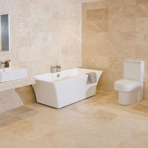 5 M2 Large Cream Beige Travertine Premium Grade A Natural Stone Bathroom Tiles Ebay
