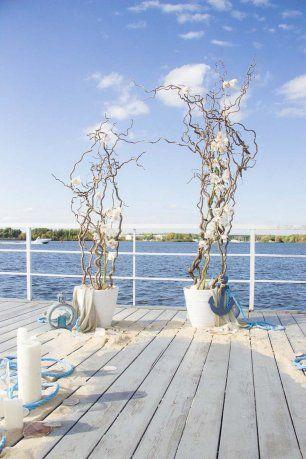 Невероятный цветочный композиции для свадьбы в морском стиле