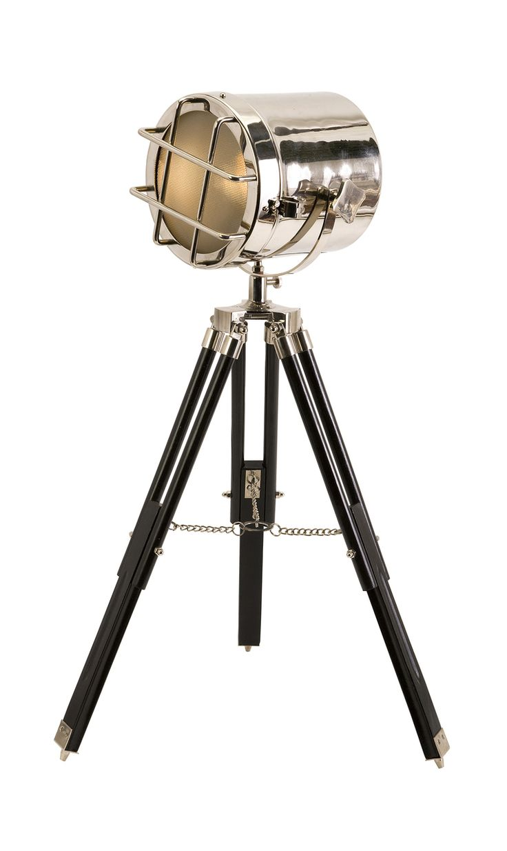 18 best industrial style home decor images on pinterest - Tripod spotlight table lamp ...