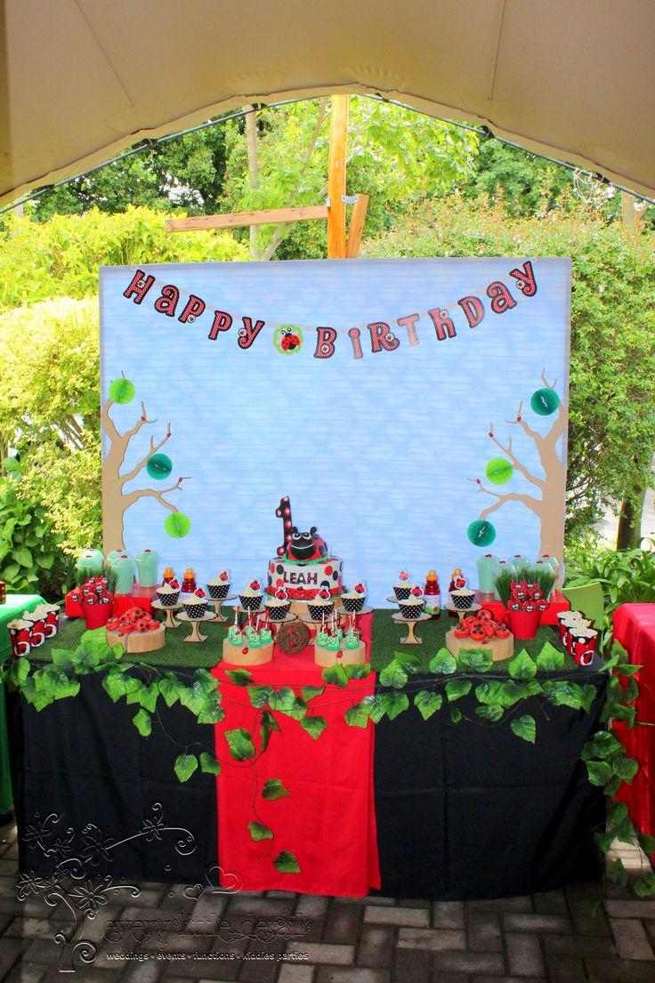 Ladybug Dessert Table #Ladybug #1stBirthday #DessertTable