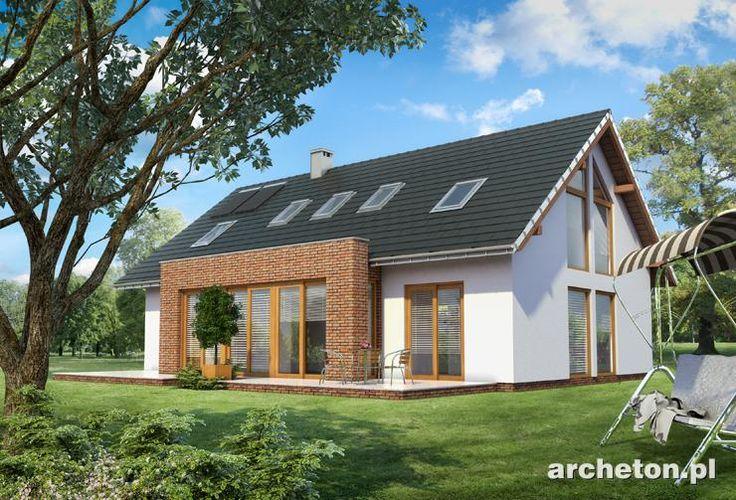 Projekt domu Linda to nowoczesny dom z dużą ilością przeszkleń