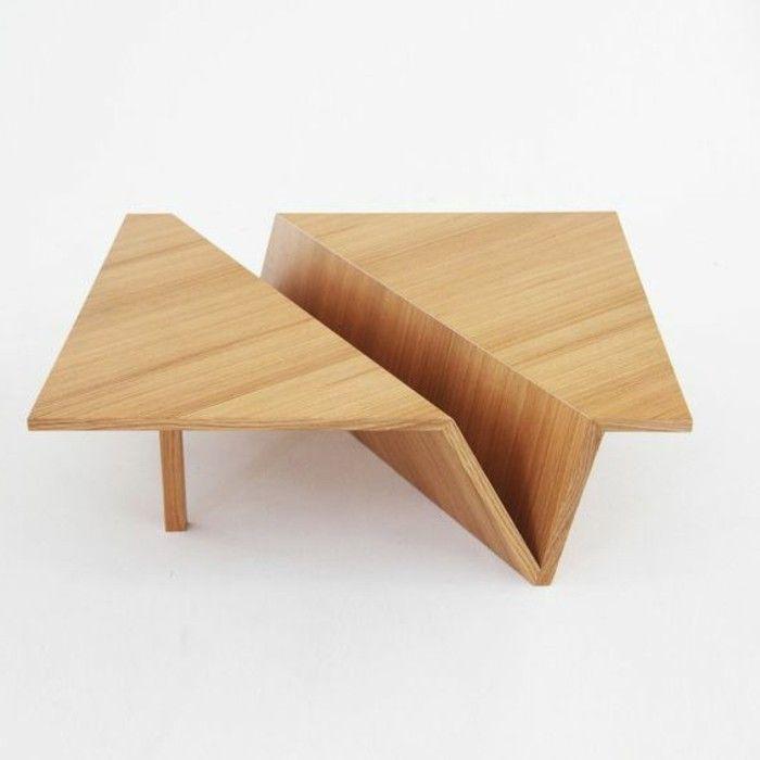 table basse design pour le salon, tables basses ikea en bois clair
