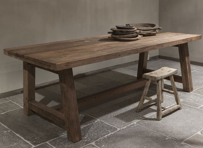 Oud-houten eettafel Megan | Woonland