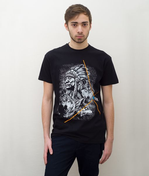 *Cosmic* Indian Wildlife Black T-Shirt