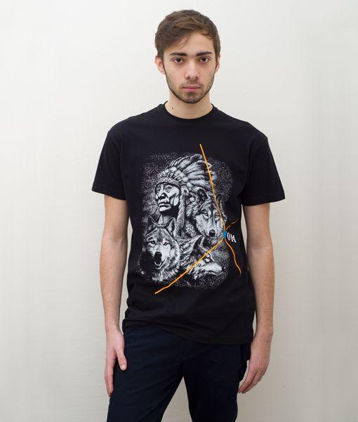 *Cosmic* Indian Wildlife Black T-Shirt