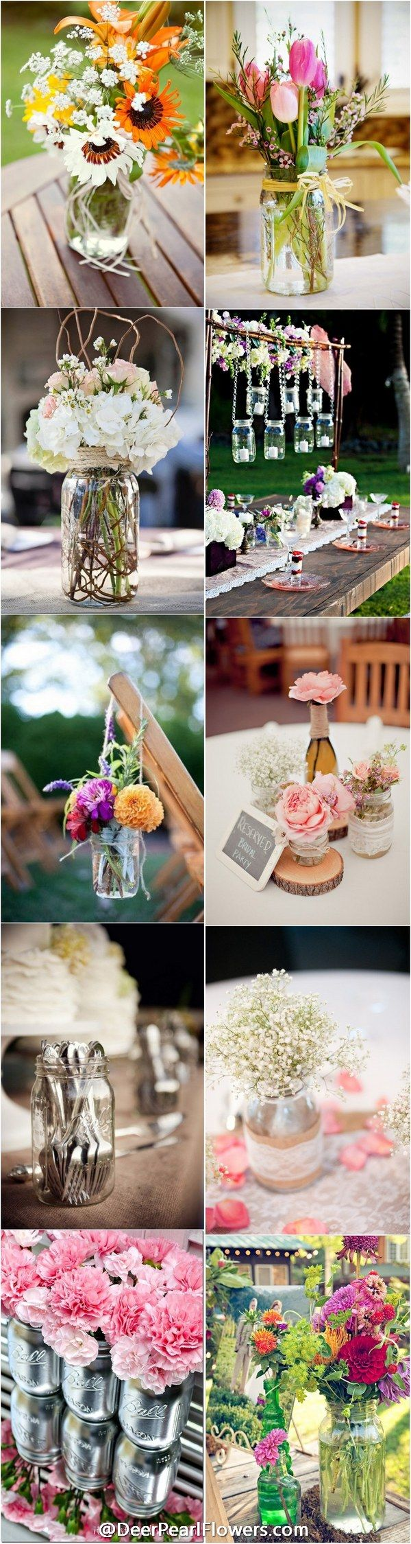 Rustic country mason jar wedding ideas