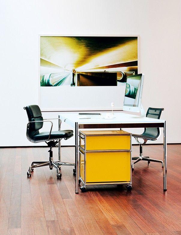 die besten 25 usm schreibtisch ideen auf pinterest usm. Black Bedroom Furniture Sets. Home Design Ideas