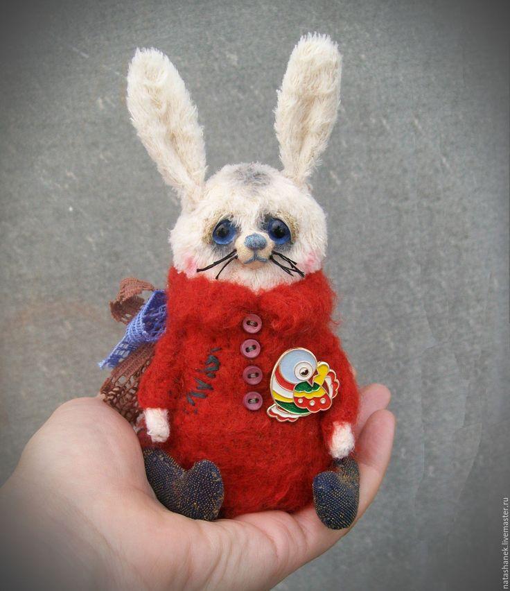 Купить зайка тедди маленький зайчик карманный мишка - белый, красный, зайчик, зайка тедди