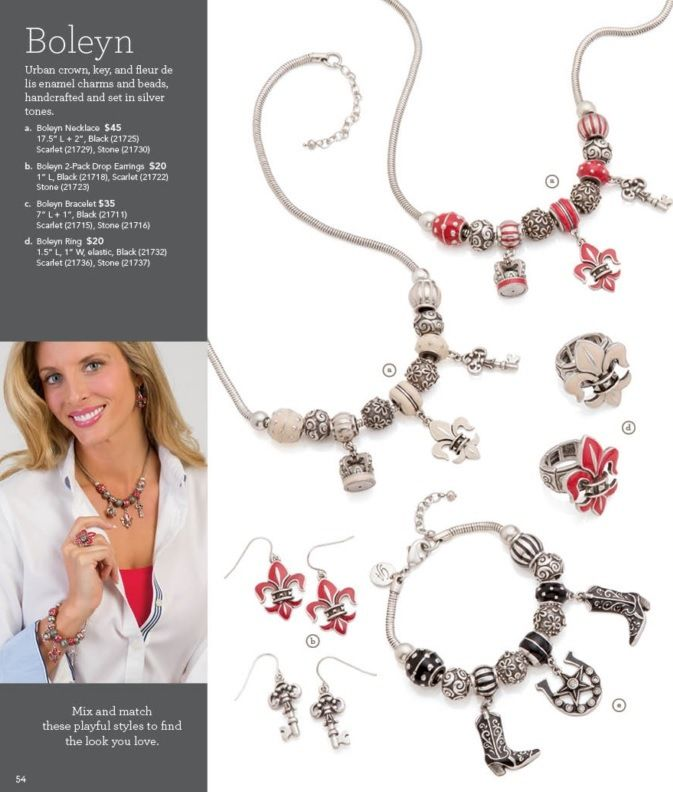 #GraceAdele (by #Scentsy) NEW 2014 Spring & Summer catalog is here! #CreateYourLook customize fashion style chic design hand bags #jewelry accessories Silver red black white #cowgirl crown key fleur de lis horseshoe boots stars charms beads #ichoose #scentsyfamily