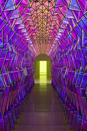 """Olafur Eliasson - """"Take your time""""; at the Museum of Contemporary Art in Chicago.: Lights, Glass Art, Olafur Eliasson, Modern Art, Colors, Contemporary Art, Textile Design, San Francisco, Stained Glasses"""