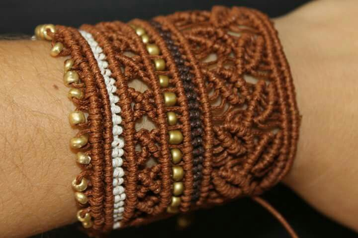 Macrame cuff bracelet