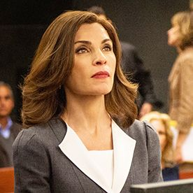 The Good Wife's Work Outfit Inspo for the Week: Try a Contrasting Lapel  #InStyle