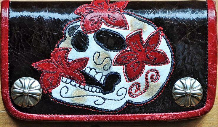 Wallet Sugar Skull (SOLD)