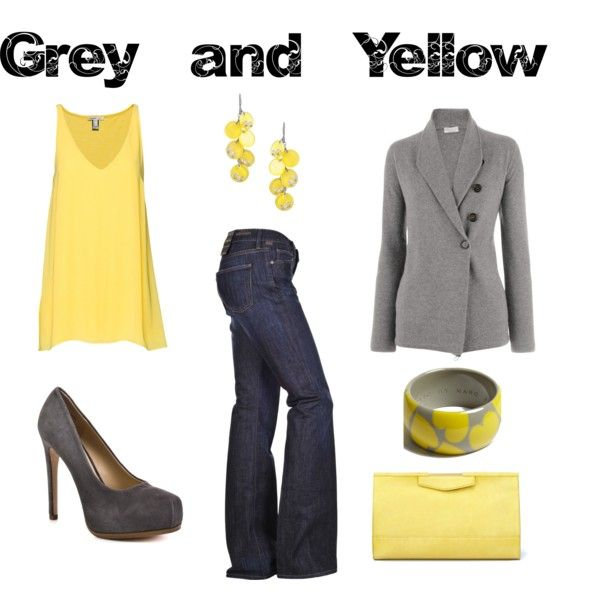 Grey and Yellow, created by jesshehr on PolyvoreHate Yellow, Clothing, Jobinterview Outfit, Grey Yellow, Polyvore, Work Style, Gray Yellow