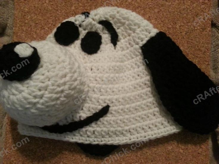 Charlie Brown's Snoopy the Dog Character Hat Crochet Pattern - free dog character hat crochet pattern from cRAfterChick.com