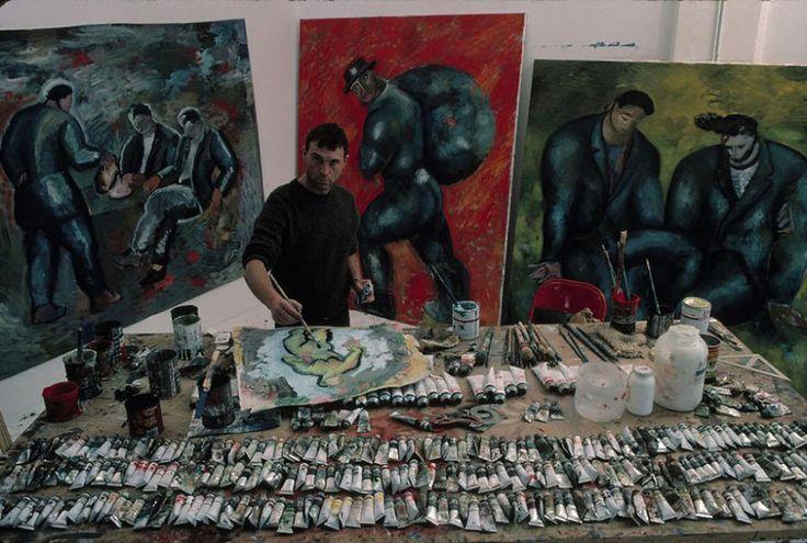 Sandro Chia- so many tubes of paint!!!
