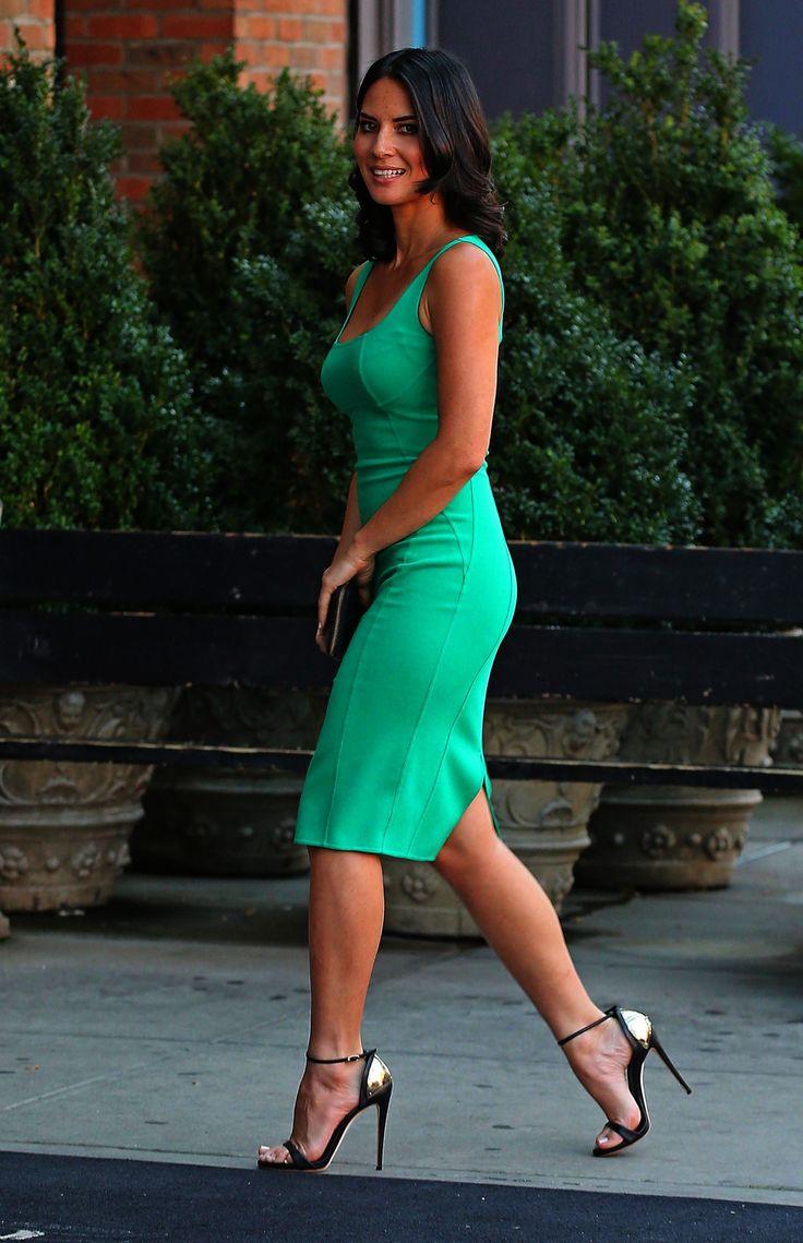 Curvy mature tight dress
