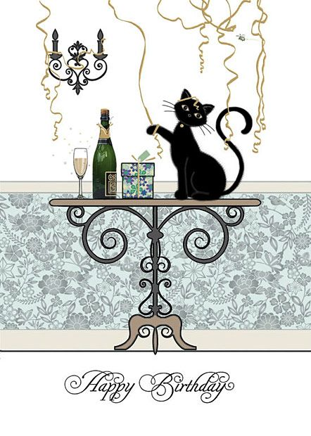 Birthday greeting for the cat lover