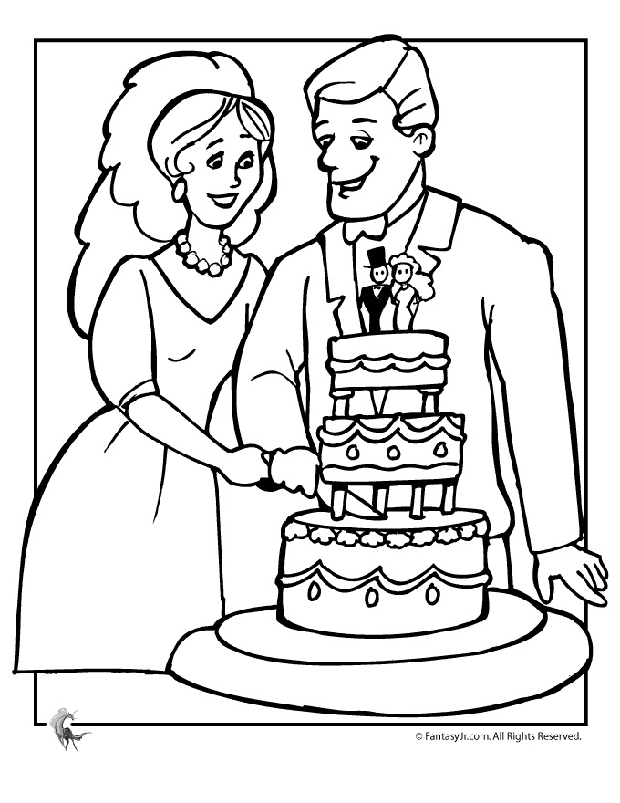 Wedding Coloring Pages Wedding