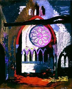 John Piper: Redland Park Congregational Church, Bristol, 1940.