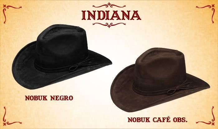 #Sombreros modelo Indiana, negro y café obscuro.