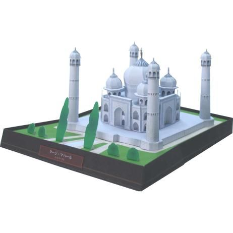 India Taj Mahal, de bouw, papier ambachtelijke, Azië en Oceanië, India, wit marmer, graf, wereld erfgoed, gebouw
