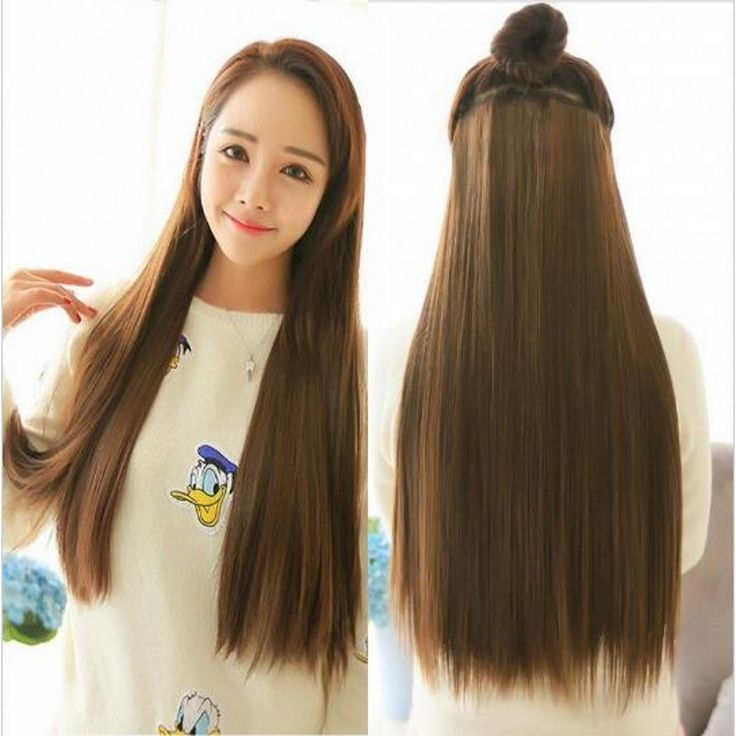 16colors Long straight 5 clip in hair extensions,full head synthetic hair extensions,fake kanekalon hairpiece extensions