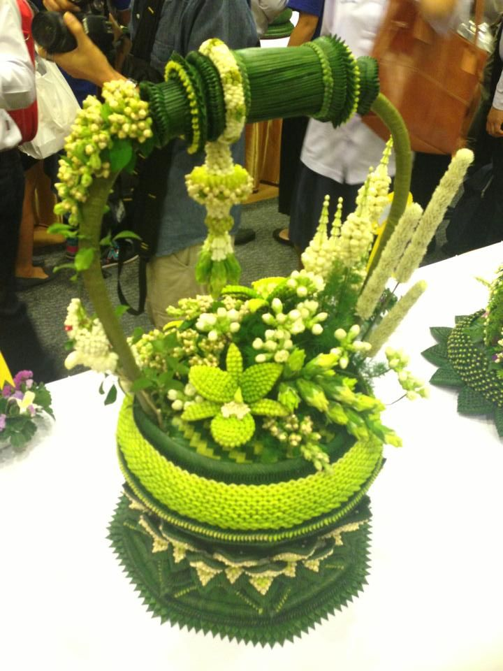 Thai handmade with banana leaf and flower