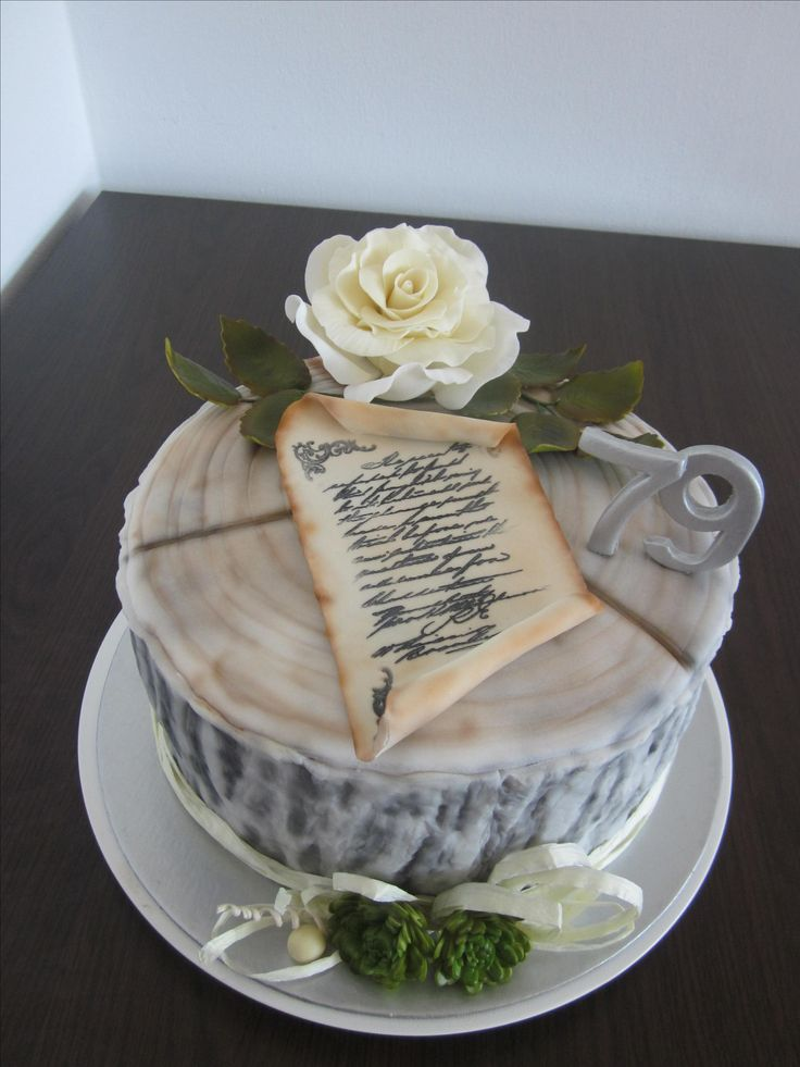 Stump with rose cake for men