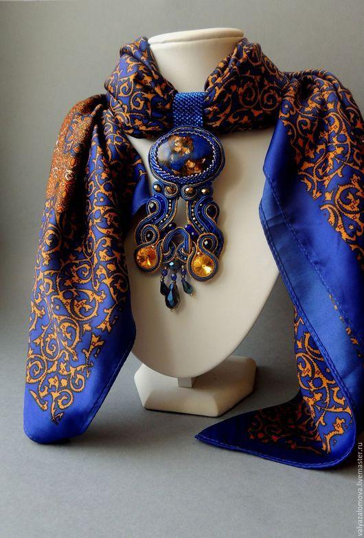 Кулоны, подвески ручной работы. Сутажный кулон на шарфе