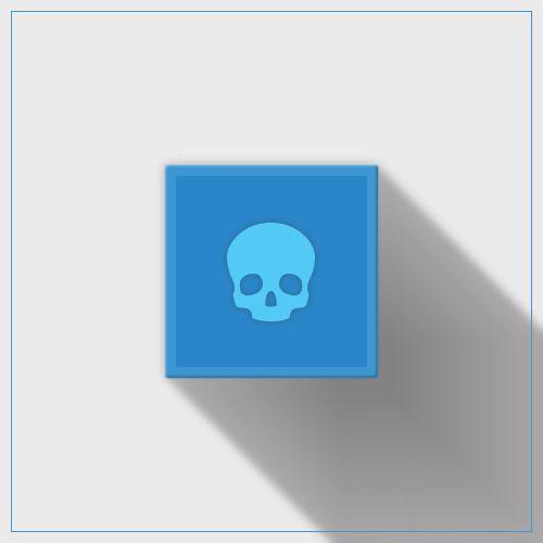 Blue Skull Icon