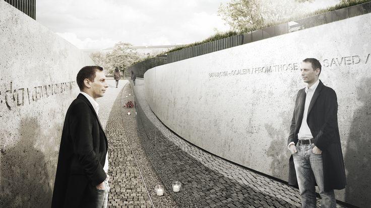 Ratującym Ocaleni / From those you saved. Honourable mention in the monument competition. 2PM PIOTR MUSIAŁOWSKI Piotr Musiałowski, Michał Adamczyk, Paulina Pankiewicz