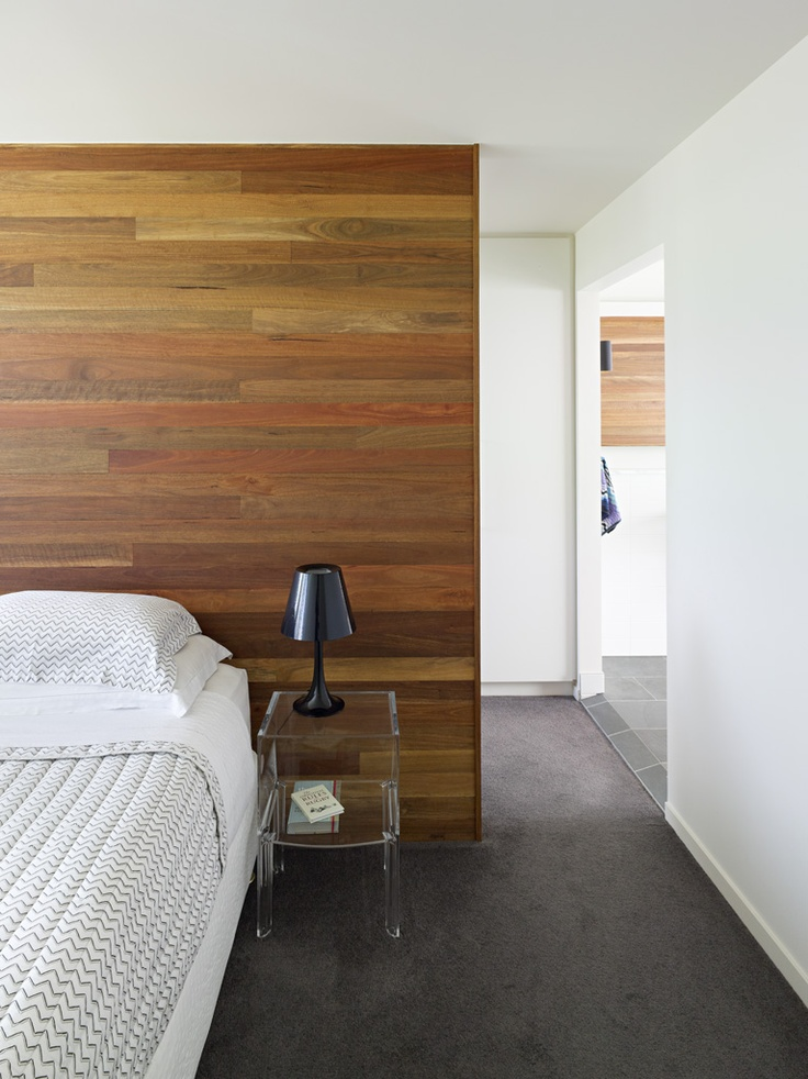 Spotted Gum Timber Wall detail by Shane Plazibat Architect