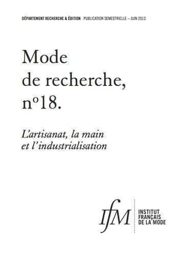 L'artisanat, la main et l'industrialisation par l'IFM