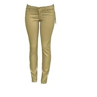 Hudson Krista W407Tip Super Skinny Womens Jeans Pacha Gold Size 28 ~