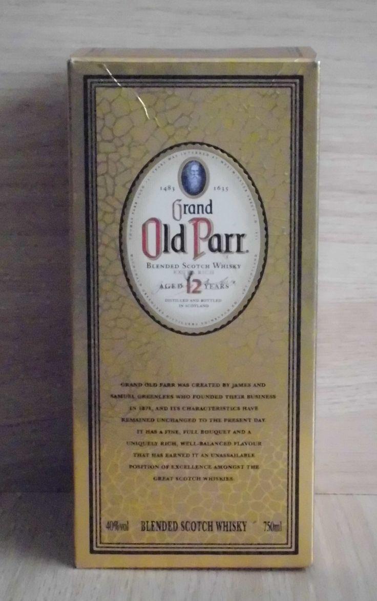 Caja de whisky Old Parr 12 años  0.75 l
