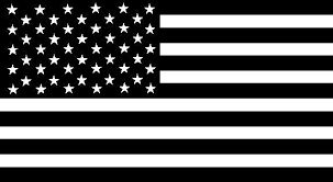 Black and white American flag decal sticker