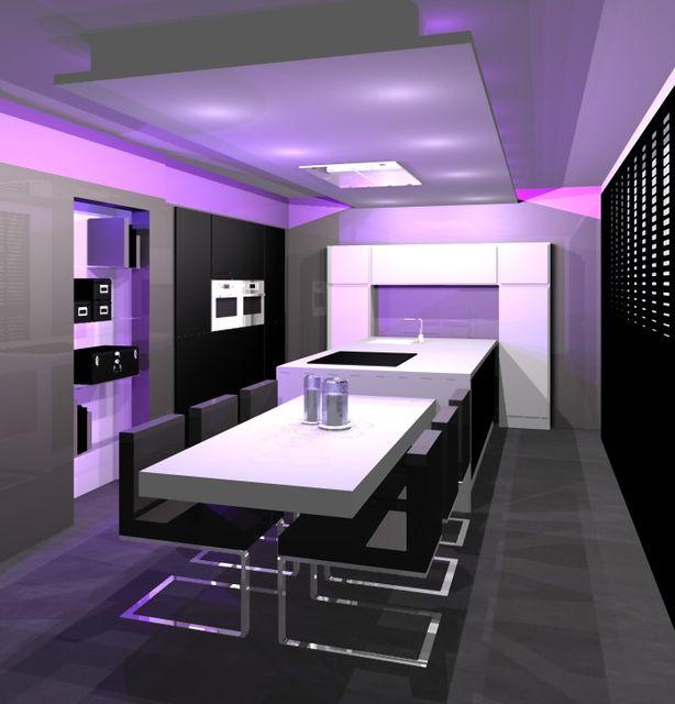 25 beste idee n over groot kookeiland op pinterest grote keuken - Moderne lounge en voormalig ...