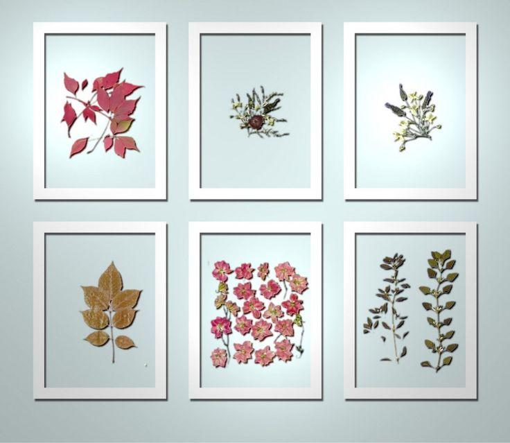 Minimalistic pressed flower art google search