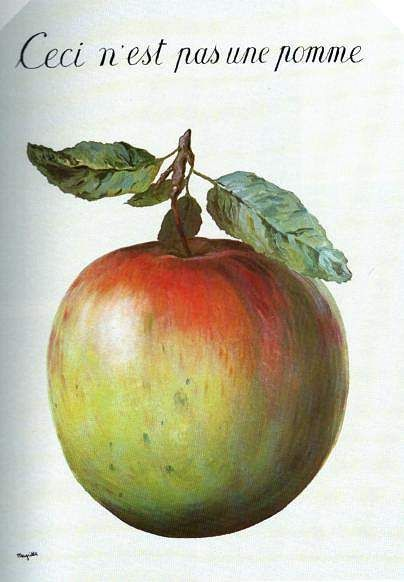 "Rene Magritte ""This Is Not an Apple"" Rene Magritte  ( 1898 - 1967 ) More At FOSTERGINGER @ Pinterest"