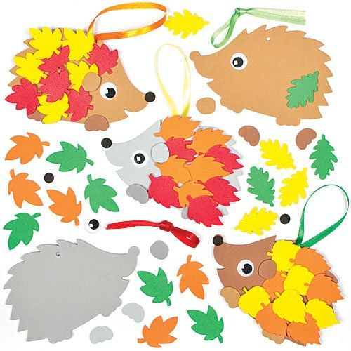 Hedgehog Decoration Kits for Children to Make - Perfect Fall Decoration (Pack of 5)