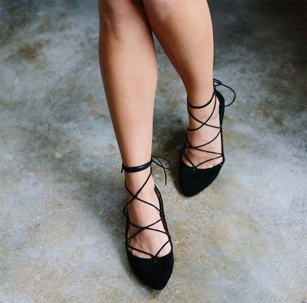Cómo hacer tus propias bailarinas 'lace up' caseras
