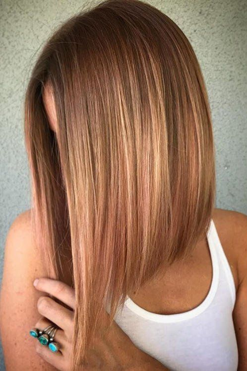 Angled Lob Haircuts That Prove Blunt Isnt Always Better In 2019